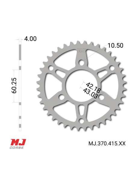 Plato MJ Corse para IMR Pit Bike 2020 Paso 415 medidas